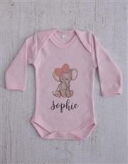 Personalised Elephant Girl Clothing Gift Set