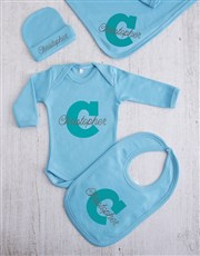 Personalised Initial and Name Clothing Gift Set