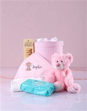 Pink Elephant Hooded Baby Towel