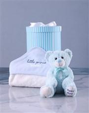 Personalised Crowned Prince Hooded Baby Towel