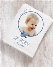 Personalised Leaf Photo Fleece Blanket