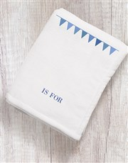 Personalised Bunting Initial and Name Blanket