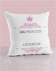 Personalised Twirly Princess Baby Scatter Cushion