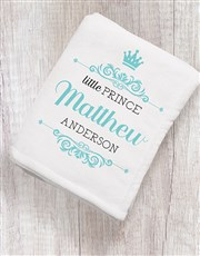 Personalised Prince Crown Scatter Cushion