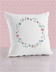 Personalised Butterflies and and Sprigs Cushion