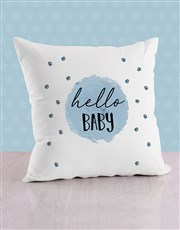 Personalised Blue Dots Baby Scatter Cushion