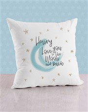 Personalised Moon and Back Baby Scatter Cushion