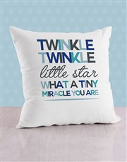 Personalised Tiny Miracle Baby Scatter Cushion