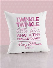 Personalised Twinkle Twinkle Baby Scatter Cushion