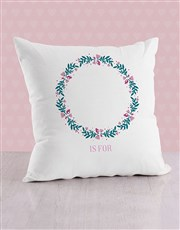Personalised Initial in Flora Baby Scatter Cushion