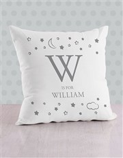 Personalised Moon and Stars Baby Scatter Cushion