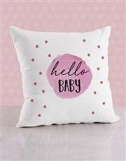 Personalised Purple Dots Baby Scatter Cushion
