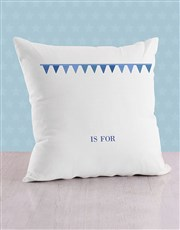 Personalised Flagged Initial Baby Scatter Cushion