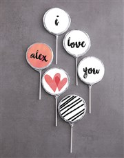 Personalised Choc Love Lollipops