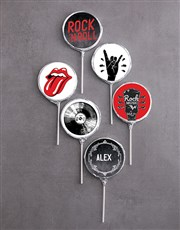 Personalised Choc Rock n Roll Lollipops