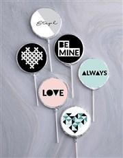 Personalised Choc Be Mine Lollipops