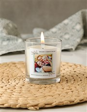 Personalised Merry Christmas Photo Candle