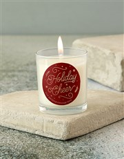 Personalised Holiday Day Cheer Candle