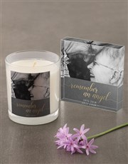 Personalised Remember An Angel Candle