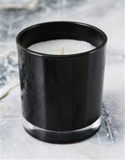 Personalised Rose Happy Birthday Black Candle