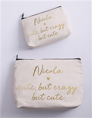 Personalised Cute Cosmetic Bag