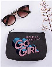 Personalised You Go Girl Cosmetic Bag