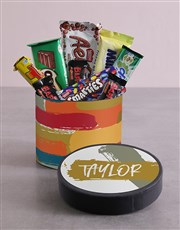 Personalised Modern Hat Box with Treats