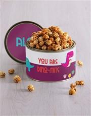 Personalised Dino Mite Popcorn Tin