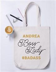 Personalised Boss Lady Tote Bag