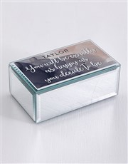 Personalised Happy Mirror Trinket Box