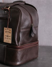 Personalised Brown Leather Golf Bag