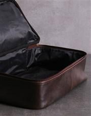 Personalised Brown Leather Golf Bag