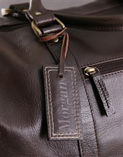 Personalised Leather Travel Bag