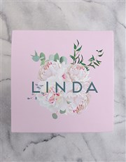Personalised Floral Box of Nougat