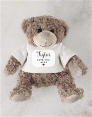 Teddy in Cuddles Drawstring Bag