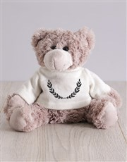 Teddy in Personalised Initial Crest Tote