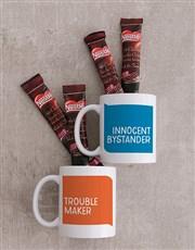 Personalised Trouble Maker Mug Set