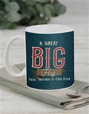 Personalised Long Distance Hug Mug Set