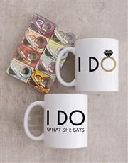Personalised I Do Mug Set