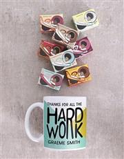 Personalised Hardwork Mug Set