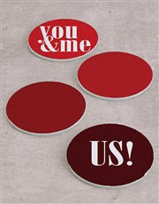 Personalised You and Me Coasters