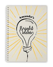 Personalised Bright Ideas Notebook