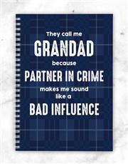 Personalised Partner In Crime Notebook