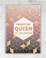 Personalised Queen Of The Office Notebook