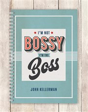 Personalised Im The Boss Notebook