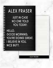 Personalised Just In Case Notebook