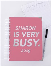 Personalised Very Busy Journal