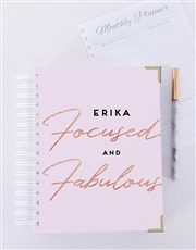 Personalised Floral Initial Journal