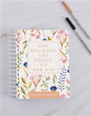Personalised Believed She Could Journal