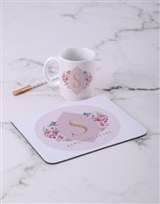 Personalised Budding Rose Mouse Pad
